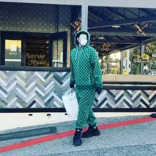 Adam Lamber in Gucci