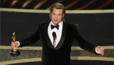 Brad Pitt won the best supporting actor Oscar
