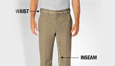 How to measure inseam for men's pants