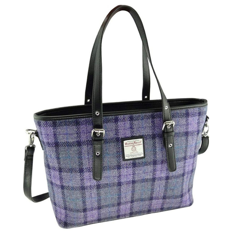 Harris Tweed tartan handbags
