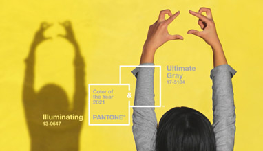 Pantone colors of the year 2021 - Ultimate Gray and Illuminating