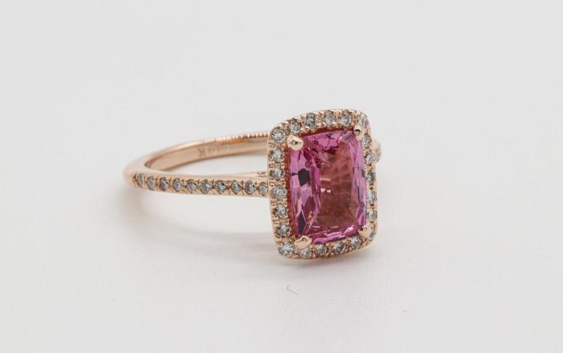 Morganite rings